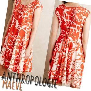 ANTHROPOLOGIE MAEVE Indiga Swing Bird dress